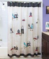 Fashionista Chic Paris Lady Shoe Fancy Shower Curtain Hollywood Glamour Decor