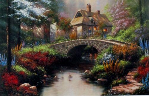 """Morning Splendor by Derk Hansen Cottage Flower Print  12/""""X 7.75/"""""""