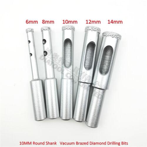 5pcs//set Vacuum Brazed Diamond drilling core bits tile hole saw 6mm to 14mm