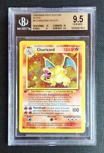 Pokemon-Beckett-9-5-Dutch-Charizard-Holo-1st-Ed-Holo-Base-Set-4-102-Gem-Mint