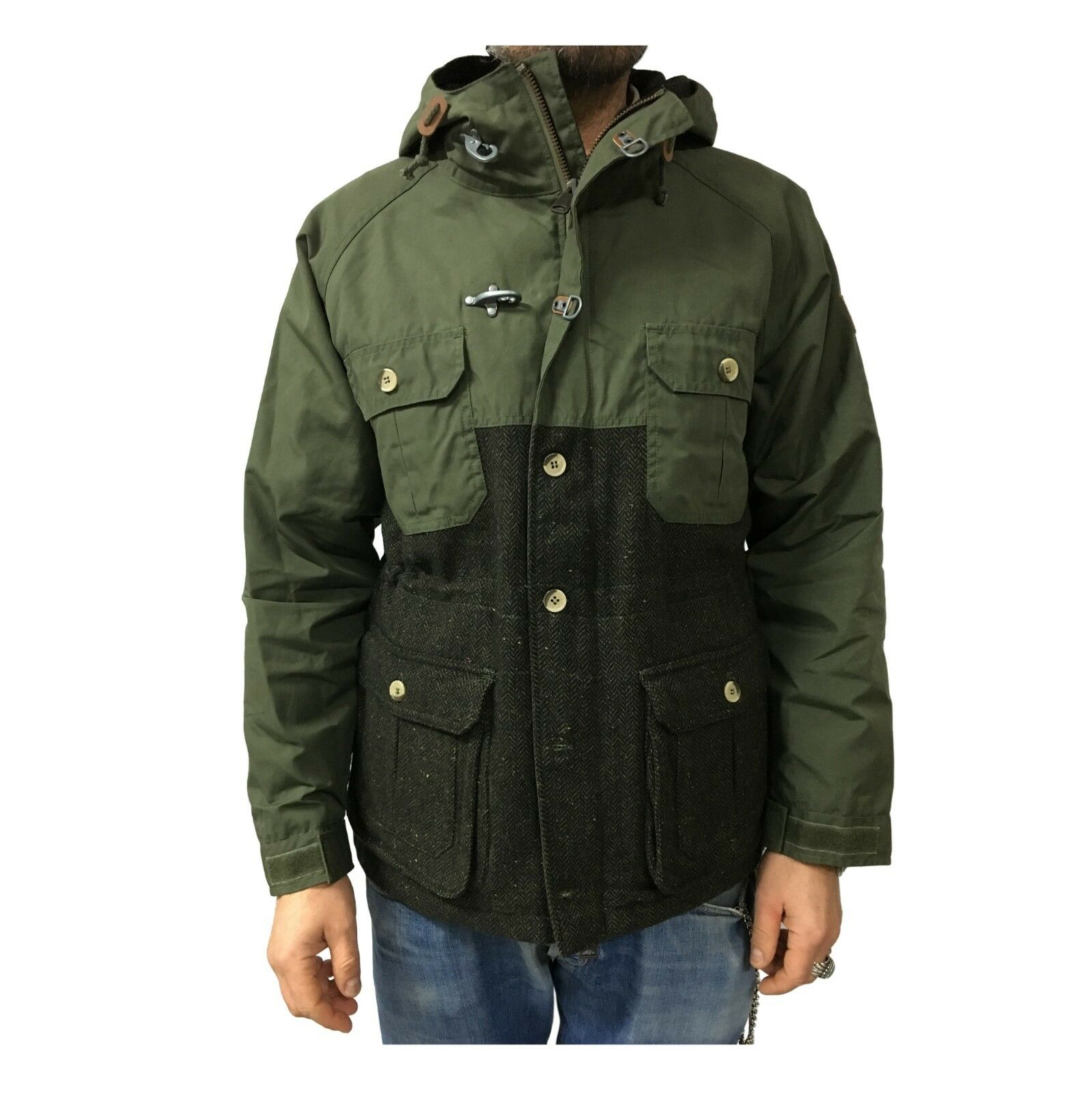 Mens Coat Green No Filling Penfield with Inserts in Wool Mod Kasson