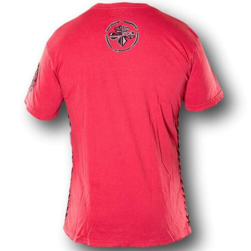 New Affliction STAMP A7201 Men/'s Short Sleeve T-shirt Tee Red