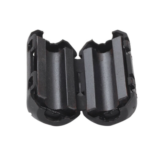 10Pcs Black Clip On Clamp RFI EMI Noise Filters Ferrite Core For 7//9//13mm Cable
