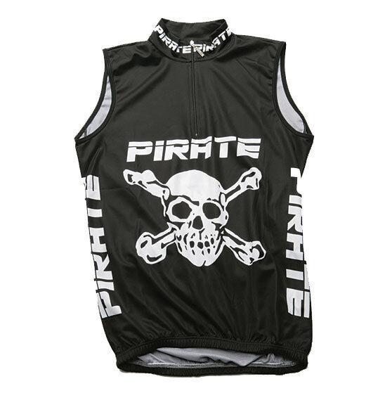 Pirate Trikot schwarz ohne Arm, Skull, Totenkopf, Pirat, Pirates