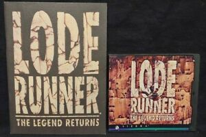 Lode-Runner-The-Legend-Returns-PC-1994-Game-Manual-Mint-Disc-1-Owner