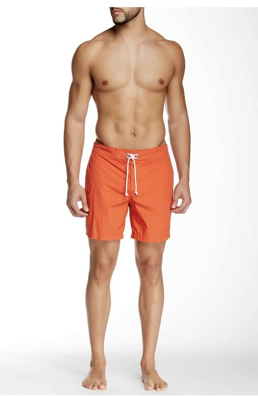 NWT  Vince Men's Solid Swimwear Trunks Shorts size 31 Infrared