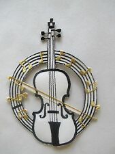 #3775 Violin Viola Stringed Orchestra Music Instrument Iron On Applique Patch