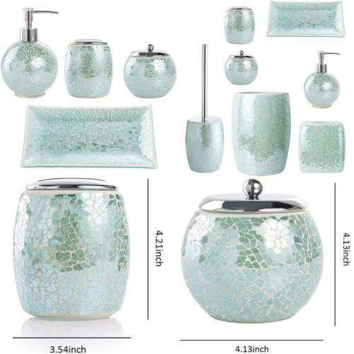 Home Garden Bathroom Accessory Sets Whole Housewares Bathroom Accessories Set 4 Piece Glass Mosaic Bath Accessory C