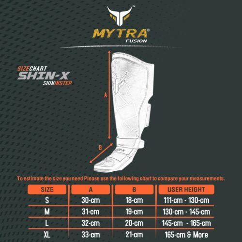 Mytra Fusion Shin Guard Instep MMA Kickboxing Training New Shin-X Core Protector