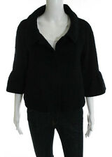 THEORY Black Point Collar Long Sleeve Blazer Sz M