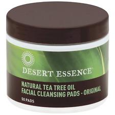 Desert Essence Facial Cleansing Pads, Natural Tea Tree Oil 50 ea (Pack of 2)