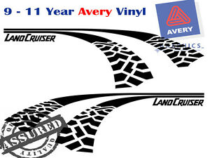 Tyre Track Decal Sticker for Toyota Landcruiser RV fit Left and