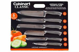 Cuisinart Knife Set German Steel With Blade Guards 6 Piece