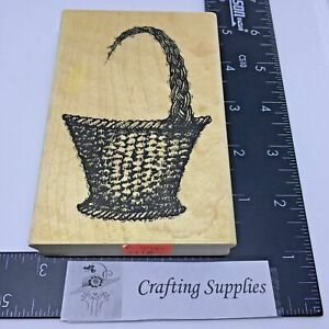 Wicker Basket Large Rubber Stamp by Stampendous
