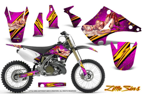 KAWASAKI KX125 KX250 0313 GRAPHICS KIT CREATORX DECALS LSP