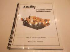 1000802 Leeboy 1000 D Tilt Hopper Paver Operation Srv Amp Repair Manual Jj1