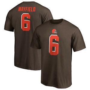 meet 85fcc b830a Details about Baker Mayfield Cleveland Browns #6 Fanatics NFL Authentic  T-Shirt Brown Jersey
