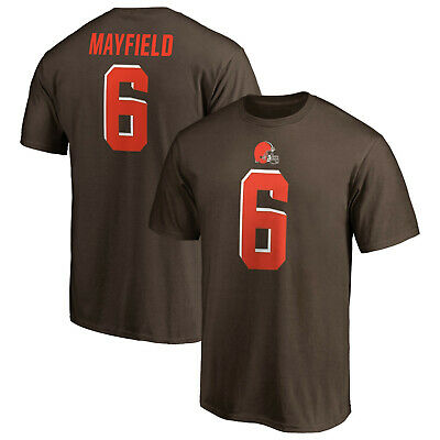 more photos c7415 68340 Baker Mayfield Cleveland Browns #6 Fanatics NFL Authentic T-Shirt Brown  Jersey | eBay