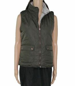 Thread-Supply-Women-039-s-Jacket-Olive-Green-Size-Large-L-High-Neck-Vest-54-387