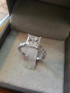 2-00-Ct-Princess-Cut-Diamond-10k-Real-White-Gold-Women-039-s-Engagement-Wedding-Ring
