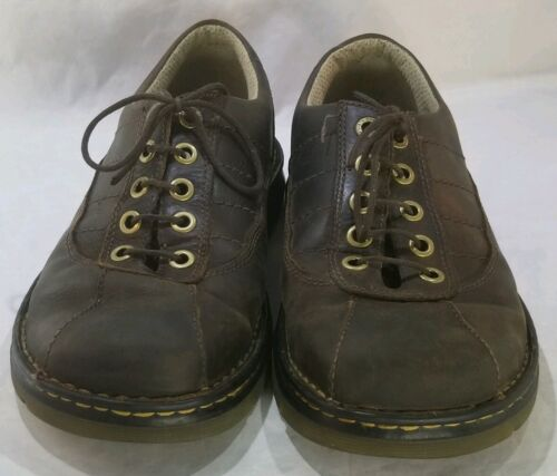 Oxford misura 10 uomo John Comfort Brown Leather Casual Martens Dr TYwqvv