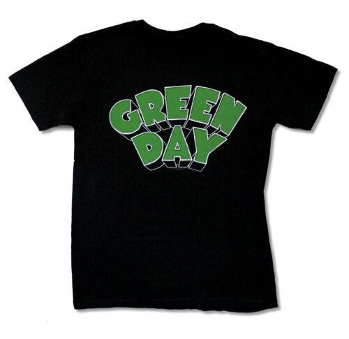 Green Day-Classic Plain Green Day Logo-Black T-shirt