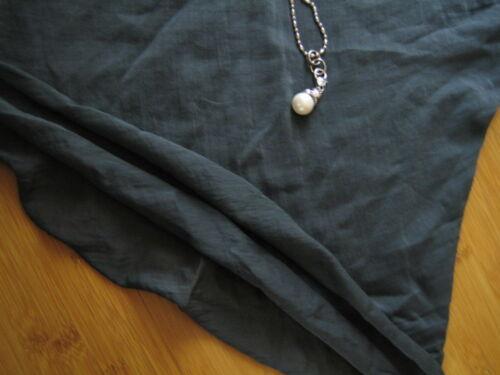 Damen 38 Top Neu Grau Baumwolle Italy Tunika Blogger Leger Bluse Shirt lagen 2 SxwtCYw