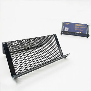 Metal business card holder stand office display black mesh pocket image is loading metal business card holder stand office display black reheart Choice Image