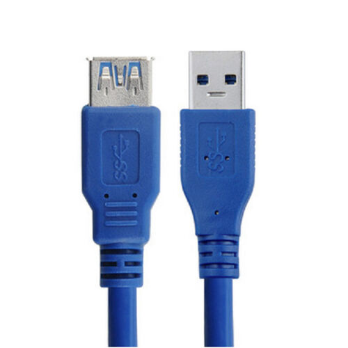 10Ft USB 3.0 A Male TO A Female Extension Cable Super Speed Blue Color Cord M0US
