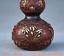 8-034-Vieille-Chine-rouge-Cuivre-Dore-prune-fleur-Bambou-Fleur-Gourdes-Vase miniature 5