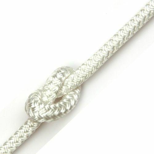 6mm x 23m White Braid on Braid Polyester Rope Halyard Double Braid