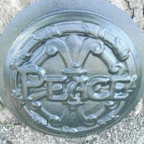 Peace stepping stone plastic mold mould