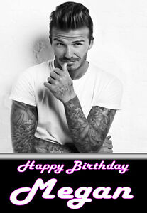 PERSONALISED DAVID BECKHAM A5 BIRTHDAY CARD ANY NAME AGE GREETINGS OCCASION