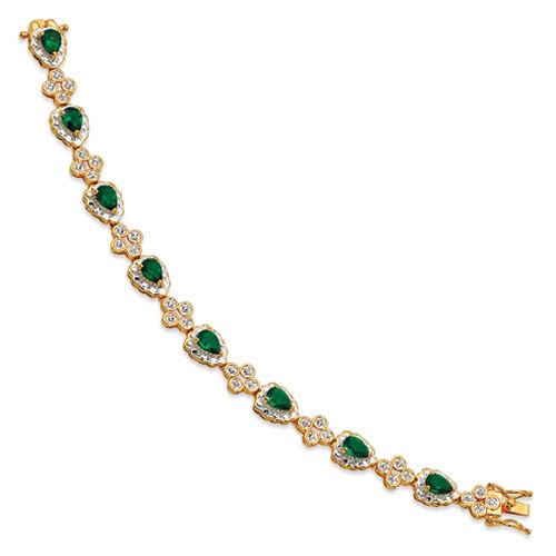 Jacqueline Kennedy 24K gold & Rhodium Finish Crystal First Lady Bracelet 8