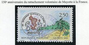 STAMP-TIMBRE-FRANCE-OBLITERE-N-2735-RATTACHEMENT-DE-MAYOTTE