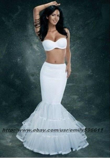 Ivory Lycra Tulle Mermaid Trumpet Style Wedding Gown Petticoat ...