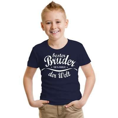 Herzhaft Kinder T-shirt Bester Bruder 86 - 164 Mädchen Jungen Spass Lustiges Geschenk