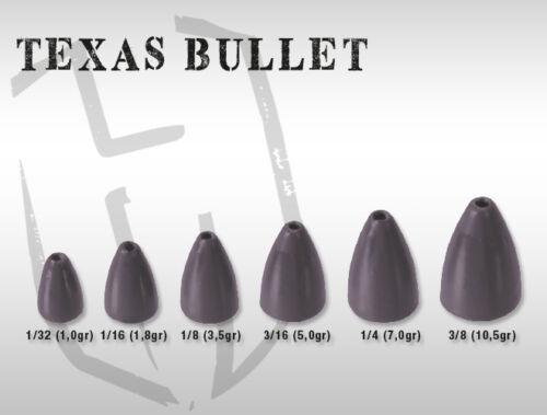 Confezione piombi Herakles Texas Bullet Matt Black