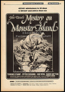 MYSTERY-ON-MONSTER-ISLAND-Orig-1981-Trade-AD-poster-PETER-CUSHING-PAUL-NASCHY