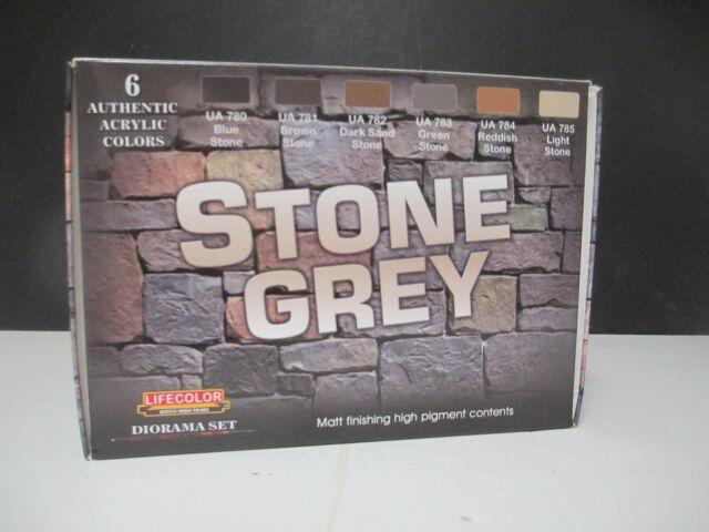 Lifecolor CS40 Stone Grey Acrylic Diorama Paint Set