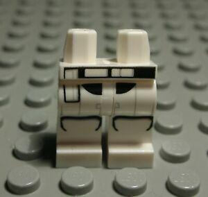 1633 # Lego Figur Zubehör Beine Hose Weiss Schwarz mit Dekor aus Star Wars