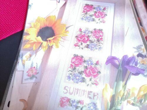 Cross stitch chart printemps saison d/'été Fleur bellpull Carte Seulement