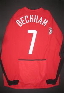 2002-2004 Nike Manchester United David Beckham Shirt Jersey Kit ...