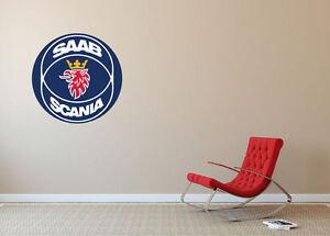 SAAB Scania *MANY SIZES* Wall Art Wall Decal Car Home Decor Car Sticker