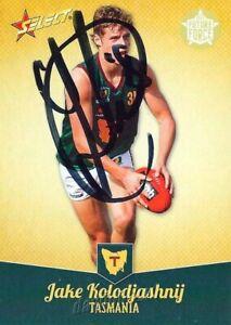 Signed-2013-GEELONG-CATS-AFL-Card-JAKE-KOLODJASHNIJ-Future-Force