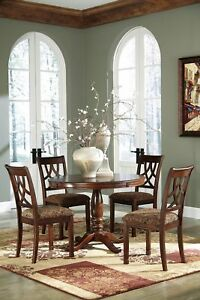 Ashley Furniture Leahlyn 5 Piece Round Dining Room Table Set