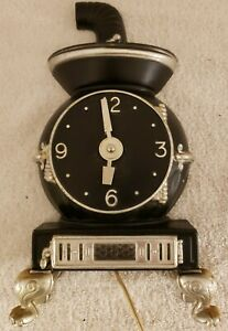 Vintage-1950-039-s-Mastercrafters-No-830-Pot-Belly-Stove-Lighted-Kitchen-Wall-Clock