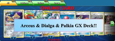 Arceus /& Dialga /& Palkia GX Keldeo GX Deck PTCGO Online Digital Cards