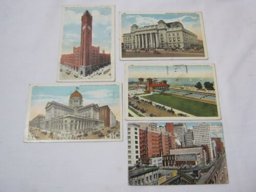 City Views & Buildings Chicago w Northwestern Station Postcards T