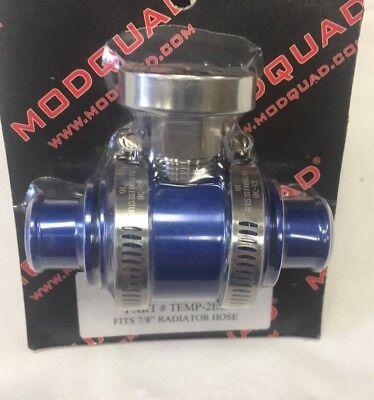 TRX450 TRX450R ENGINE SUPER COOLER INLINE TEMP GAUGE RADIATOR BLUE ANODIZED